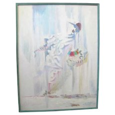 Surrealist Pacific NW Original Signed Jack Mclarty Abstract Baseball Player Painting