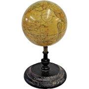 Rare 19th Century Globe, J.W. Schermerhorn & Co. 14 Bond St. New York ca. 1867