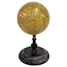 Rare 19th Century Globe, J.W. Schermerhorn & Co. 14 Bond St. New York ca. 1867