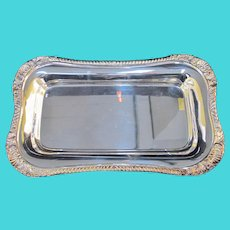 "NEIMAN MARCUS Silverplated Shell & Gadroon 12"" Serving Dish Tray"