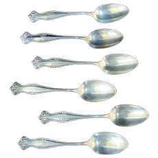 "TOWLE Sterling Silver CANTERBURY 8 1/4"" Tablespoon Set of 6 ""N"" Mono"