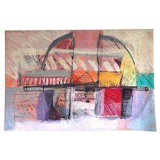 Israeli Artist CALMAN SHEMI Abstract Modern Art SOFT PAINTING Wool Rug Tapestry