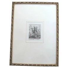 Wenceslas HOLLAR 1794 Plate XI The BISHOP Inspired by Holbeins Dance of Death