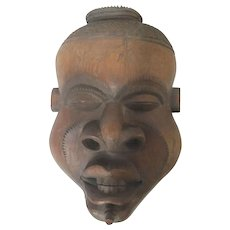 Large PENDE Mbuya Male Face Mask Democratic Republic of the Congo AFRICAN ART