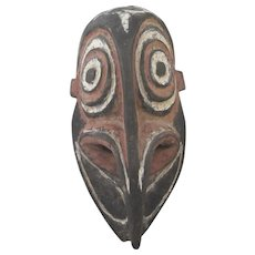 PAPUA New Guinea Sepik River Carved Wood Mask 11 1/2""