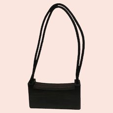Japanese SHINIHI MIYAZAKI Carved Wood MODERN ART Clutch Handbag Purse Signed