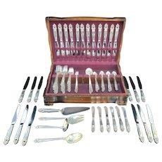 INTERNATIONAL Sterling Silver 133pc ROYAL DANISH Flatware & Serving Set
