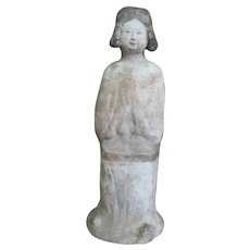 HAN DYNASTY Chinese Female Burial Tomb Figure Statue of FEMALE Attendant