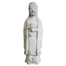 Antique CHINESE Clay Tomb Figure Burial Statue Figurine of ATTENDANT