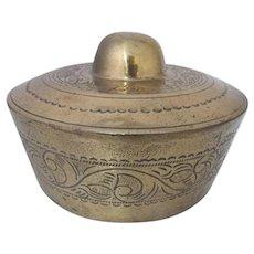 Vintage Chinese South Asia BRASS Etched Ritual Gong Tawak Tawak