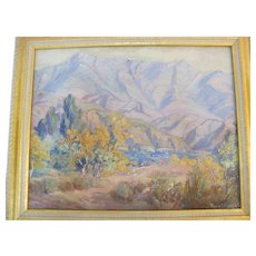 CALIFORNIA Artist Marie B Kendall IMPRESSION Mountain Landscape Oil Painting