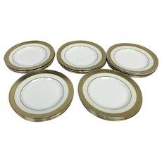 "MINTON 20pc Cream & Gold Gilt BUCKINGHAM K159 Bread & Butter 6 1/4"" Plate Set"