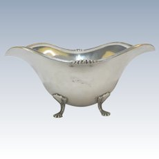 TOWLE 49368 Antique STERLING Silver Footed Sauce Gravy Bowl No Monogram 251gr