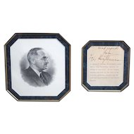Framed US PRESIDENT Harry S Truman Dated AUTOGRAPH Signed Oath Of Office