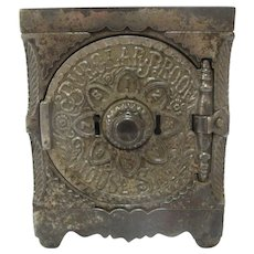 Cast Iron 1897 J & E Stevens Key Combination Safe #40 Still Safe BANK