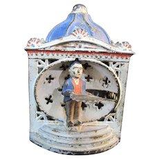 Antique J & E Stevens John Hall LILLIPUT Cat Iron Toy MECHANICAL Bank