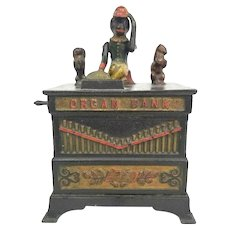 Antique Kyser & Rex ORGAN Grinder MONKEY w/Cat & Dog CAST IRON Mechanical Bank Product Images