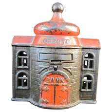 PRESTO Cast Iron TRICK Antique Marshall Fields Mechanical Bank