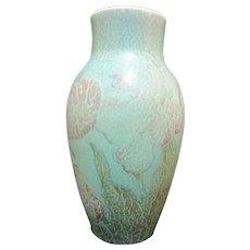 Vintage 1928 ROOKWOOD J Wesley Pullman Wax Matte TULIPS Crackle Vase 926-D
