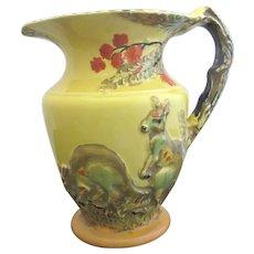 Rare BURLEIGH Ware Vintage Art Deco Whimsical KANGAROO Pitcher Jug 4929