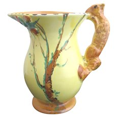 BURLEIGH Ware Vintage Art Deco Adorable SQUIRREL Tree Pitcher Jug Vase 4801