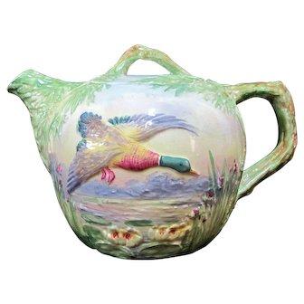 Vintage ROYAL WINTON Grimwades Whimsical Majolica Fying MALLARD Duck Teapot