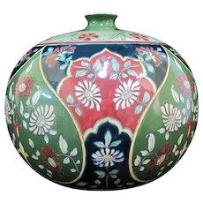 "ROYAL BONN Old Dutch Large Globular ART NOUVEAU Floral 10"" Vase"