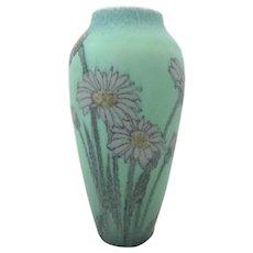 Vintage 1925 ROOKWOOD Elizabeth N Lincoln Mint DAISIES Wax Matte Vase 295-E