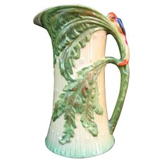 BURLEIGH Ware Vintage Art Deco BIRD of PARADISE Parrot Pitcher Jug Vase 5419