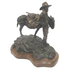 Dan Huber Large BRONZE Metal Statue Limited Edition LOST DUTCHMAN