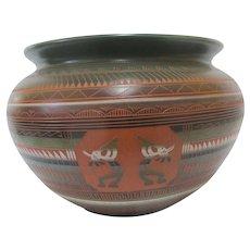 NAVAJO Native American KOKOPELLI Ernest WATCHMAN Pottery Vase Large Pot