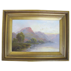 19th Century LANDSCAPE Near Betws Y Coed WALES UK Painting Signed MILLER (2)