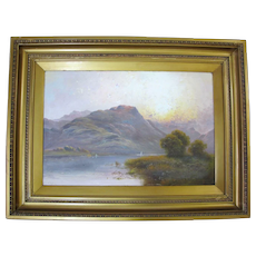 19th Century LANDSCAPE Near Betws Y Coed WALES UK Painting Signed MILLER
