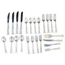 WALLACE Sterling Silver 24pc ROMANCE of the SEA Dinnerware Service for 4 Set