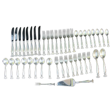 WALLACE Sterling Silver 44pc ROMANCE of the SEA Dinnerware Service for 8 Set