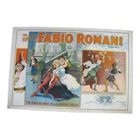 FABIO ROMANI Marie Corelli 1914 VENDETTA National Movie Art Nouveau Poster