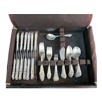 WALLACE Sterling Silver 81pc SIR CHRISTOPHER Flatware Dinnerware Set