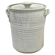 RUSTIC 1973 Charles Gorrell NW COAST Studio Pottery Lidded Cylinder Jar