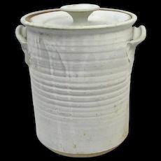 RUSTIC 1973 Charles Gorrell NW COAST Studio Pottery Lidded Cylinder Jar