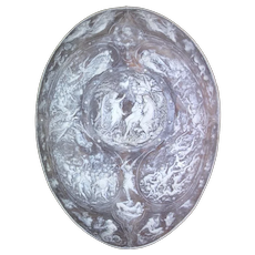 Milton AGATE Wall Hanging CAMEO Shield Poem PARADISE LOST War in Heaven Scene