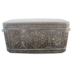 BRONZE Silver Inlay BETEL Nut Mindanou Early 1900's Tobacco 3 Compartment Box