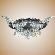 James DIXON & Sons Sheffield ELABORATE Pierced STERLING Silver Bowl 5405 12