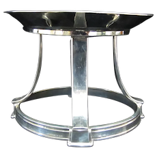 PEARCE Sterling Silver 1927 Hand Hammered Candle Stand Bon Bon Dish