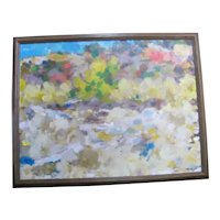 Oregon Art DAVID McCOSH Mottled Colorful ABSTRACT Signed Original Oil Painting