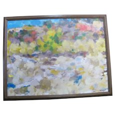 Oregon Art DAVID McCOSH Mottled Colorful ABSTRACT Signed Original Oil Painting