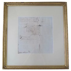 Authentic JOHN HANCOCK Signed Command of REVOLUTION War Nicholas Bartlett Letter