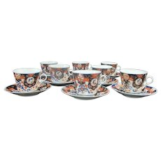 IMARI Japanese Finely Detailed Porcelain Coffee Tea CUP & SAUCER 16pc Set