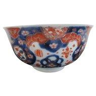"IMARI Japanese Finely Detailed Floral Flower IMARI 7"" Rice Bowl"