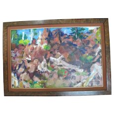 Signed DAVID McCOSH Colorful ABSTRACT Oregon Art Oil Painting Framed