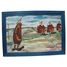Russian ANN KRASNER Framed Oil Painting on Canvas WORLD COUNCIL
